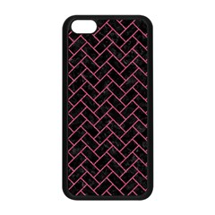 Brick2 Black Marble & Pink Denim (r) Apple Iphone 5c Seamless Case (black) by trendistuff