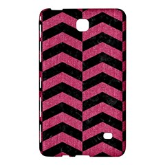 Chevron2 Black Marble & Pink Denim Samsung Galaxy Tab 4 (8 ) Hardshell Case  by trendistuff