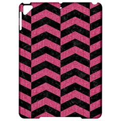 Chevron2 Black Marble & Pink Denim Apple Ipad Pro 9 7   Hardshell Case by trendistuff