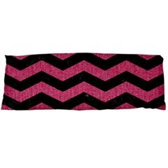 Chevron3 Black Marble & Pink Denim Body Pillow Case Dakimakura (two Sides) by trendistuff