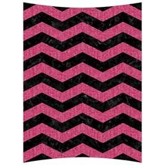 Chevron3 Black Marble & Pink Denim Back Support Cushion by trendistuff