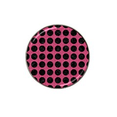 Circles1 Black Marble & Pink Denim Hat Clip Ball Marker (4 Pack) by trendistuff
