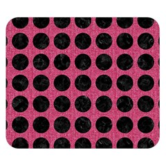 Circles1 Black Marble & Pink Denim Double Sided Flano Blanket (small)  by trendistuff