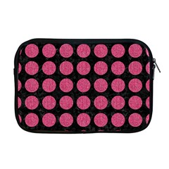 Circles1 Black Marble & Pink Denim (r) Apple Macbook Pro 17  Zipper Case