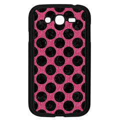 Circles2 Black Marble & Pink Denim Samsung Galaxy Grand Duos I9082 Case (black) by trendistuff