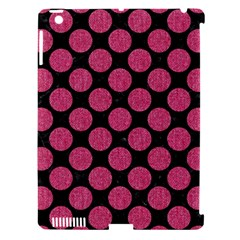 Circles2 Black Marble & Pink Denim (r) Apple Ipad 3/4 Hardshell Case (compatible With Smart Cover) by trendistuff