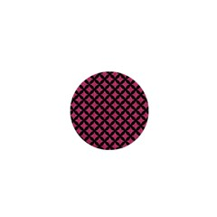 Circles3 Black Marble & Pink Denim 1  Mini Magnets by trendistuff