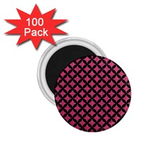 Circles3 Black Marble & Pink Denim 1 75  Magnets (100 Pack)  by trendistuff