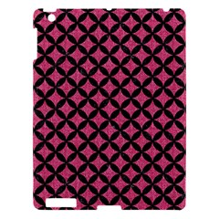 Circles3 Black Marble & Pink Denim Apple Ipad 3/4 Hardshell Case by trendistuff