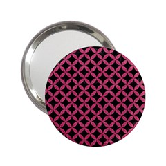 Circles3 Black Marble & Pink Denim (r) 2 25  Handbag Mirrors by trendistuff