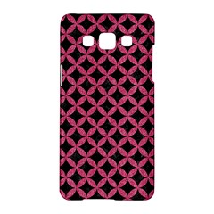 Circles3 Black Marble & Pink Denim (r) Samsung Galaxy A5 Hardshell Case  by trendistuff