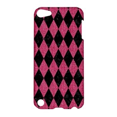 Diamond1 Black Marble & Pink Denim Apple Ipod Touch 5 Hardshell Case by trendistuff