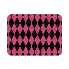 Diamond1 Black Marble & Pink Denim Double Sided Flano Blanket (mini)  by trendistuff