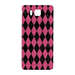 Diamond1 Black Marble & Pink Denim Samsung Galaxy Alpha Hardshell Back Case by trendistuff