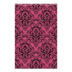 Damask1 Black Marble & Pink Denim Shower Curtain 48  X 72  (small)  by trendistuff