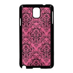 Damask1 Black Marble & Pink Denim Samsung Galaxy Note 3 Neo Hardshell Case (black) by trendistuff
