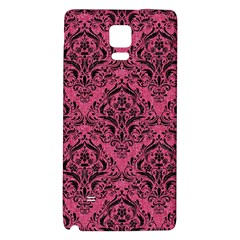 Damask1 Black Marble & Pink Denim Galaxy Note 4 Back Case by trendistuff
