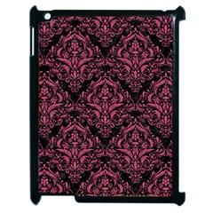 Damask1 Black Marble & Pink Denim (r) Apple Ipad 2 Case (black) by trendistuff