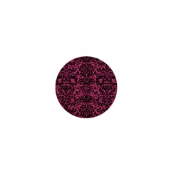 Damask2 Black Marble & Pink Denim 1  Mini Magnets by trendistuff
