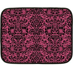 Damask2 Black Marble & Pink Denim Double Sided Fleece Blanket (mini)  by trendistuff