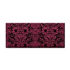 Damask2 Black Marble & Pink Denim (r) Cosmetic Storage Cases by trendistuff