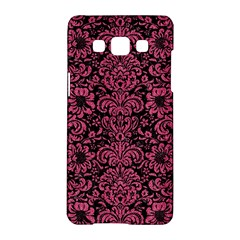 Damask2 Black Marble & Pink Denim (r) Samsung Galaxy A5 Hardshell Case  by trendistuff