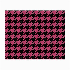 Houndstooth1 Black Marble & Pink Denim Small Glasses Cloth (2 Side) by trendistuff
