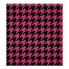 Houndstooth1 Black Marble & Pink Denim Shower Curtain 66  X 72  (large)  by trendistuff