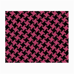 Houndstooth2 Black Marble & Pink Denim Small Glasses Cloth by trendistuff