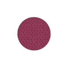 Hexagon1 Black Marble & Pink Denim Golf Ball Marker by trendistuff