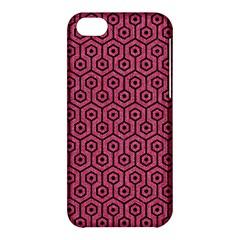 Hexagon1 Black Marble & Pink Denim Apple Iphone 5c Hardshell Case by trendistuff