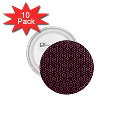 Hexagon1 Black Marble & Pink Denim (r) 1 75  Buttons (10 Pack) by trendistuff