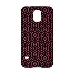 Hexagon1 Black Marble & Pink Denim (r) Samsung Galaxy S5 Hardshell Case  by trendistuff