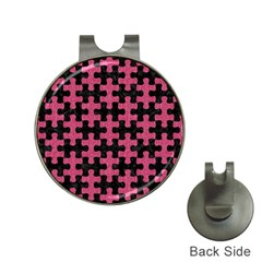 Puzzle1 Black Marble & Pink Denim Hat Clips With Golf Markers by trendistuff