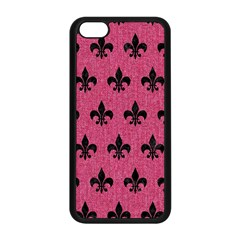 Royal1 Black Marble & Pink Denim (r) Apple Iphone 5c Seamless Case (black) by trendistuff