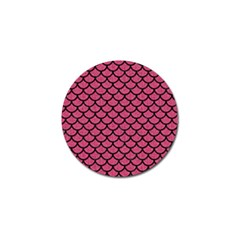 Scales1 Black Marble & Pink Denim Golf Ball Marker by trendistuff