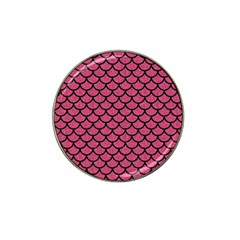 Scales1 Black Marble & Pink Denim Hat Clip Ball Marker (4 Pack) by trendistuff