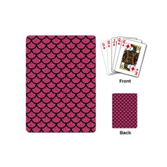 Scales1 Black Marble & Pink Denim Playing Cards (mini)  by trendistuff