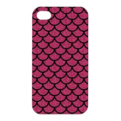Scales1 Black Marble & Pink Denim Apple Iphone 4/4s Premium Hardshell Case by trendistuff