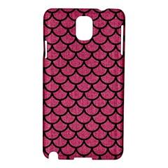 Scales1 Black Marble & Pink Denim Samsung Galaxy Note 3 N9005 Hardshell Case by trendistuff