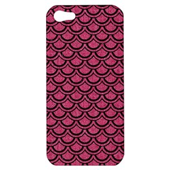 Scales2 Black Marble & Pink Denim Apple Iphone 5 Hardshell Case by trendistuff