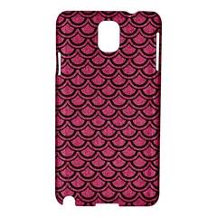 Scales2 Black Marble & Pink Denim Samsung Galaxy Note 3 N9005 Hardshell Case by trendistuff