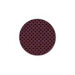 Scales2 Black Marble & Pink Denim (r) Golf Ball Marker (10 Pack) by trendistuff