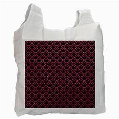 Scales2 Black Marble & Pink Denim (r) Recycle Bag (one Side) by trendistuff