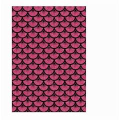 Scales3 Black Marble & Pink Denim Large Garden Flag (two Sides) by trendistuff
