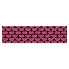 Scales3 Black Marble & Pink Denim Satin Scarf (oblong) by trendistuff