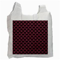Scales3 Black Marble & Pink Denim (r) Recycle Bag (one Side) by trendistuff