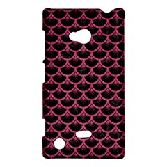 Scales3 Black Marble & Pink Denim (r) Nokia Lumia 720 by trendistuff
