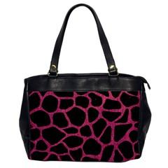 Skin1 Black Marble & Pink Denim Office Handbags by trendistuff