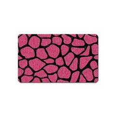 Skin1 Black Marble & Pink Denim (r) Magnet (name Card) by trendistuff